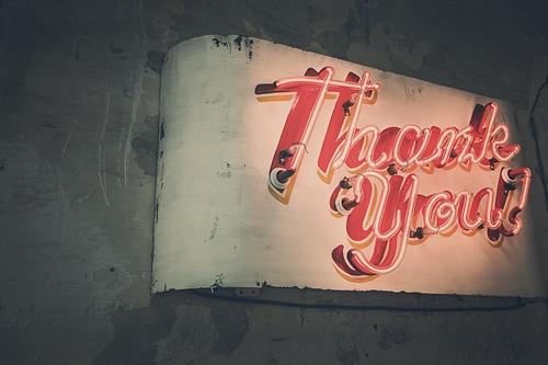 感謝の気持ちを持つ